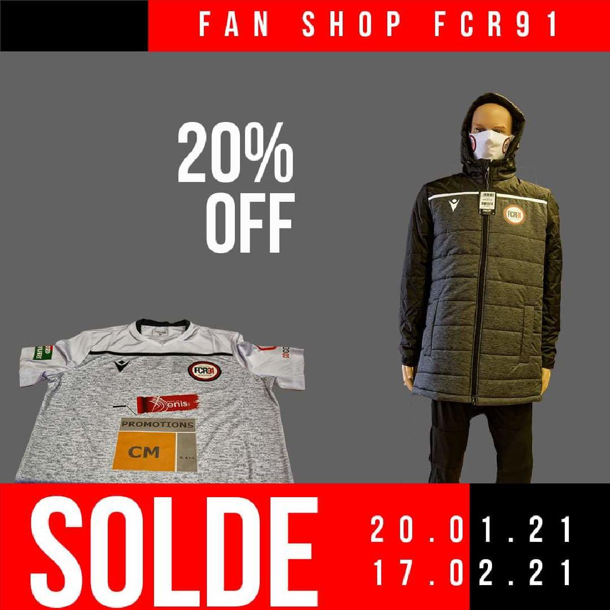 Soldes au fan Shop FCR91