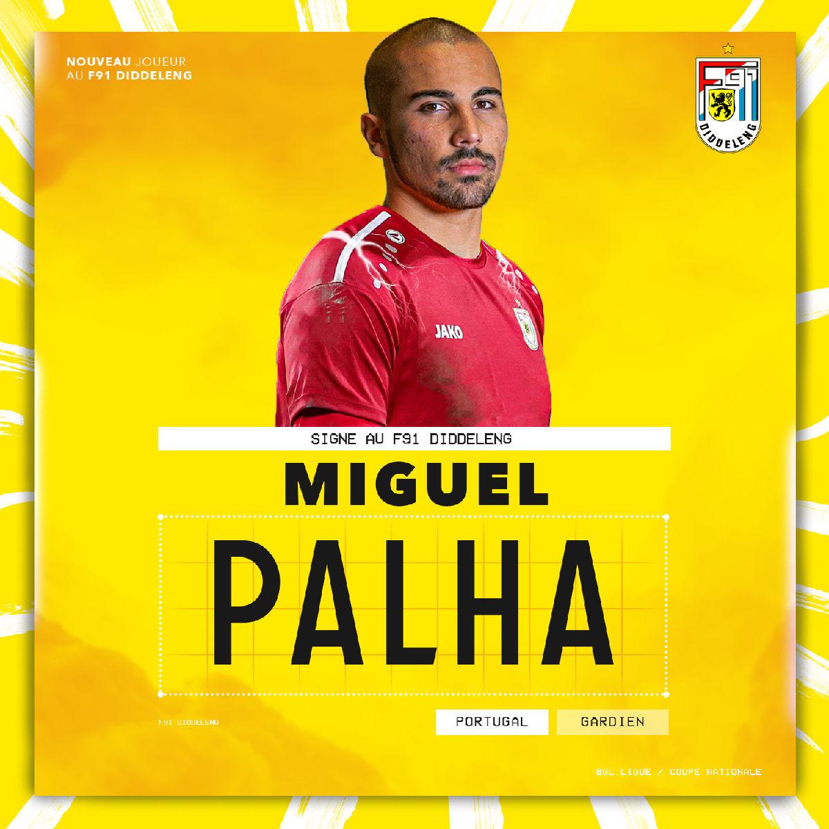 Miguel Palha signe au F91 !