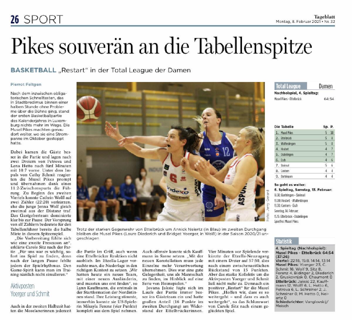 Tageblatt 08.02.2021