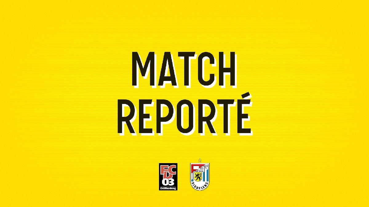Report du match FC Differdange 03 - F91 Diddeleng
