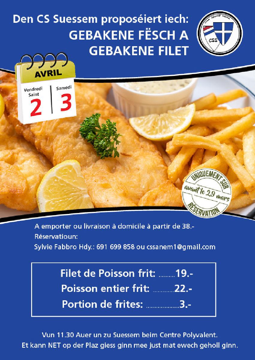 Gebakene Fisch a Filet vum CS Suessem
