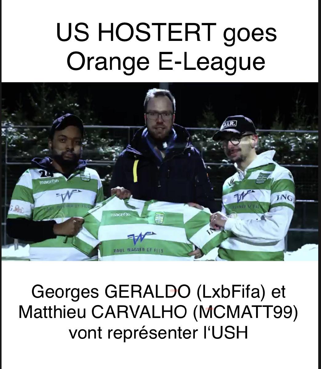 US HOSTERT an der Orange E-League !