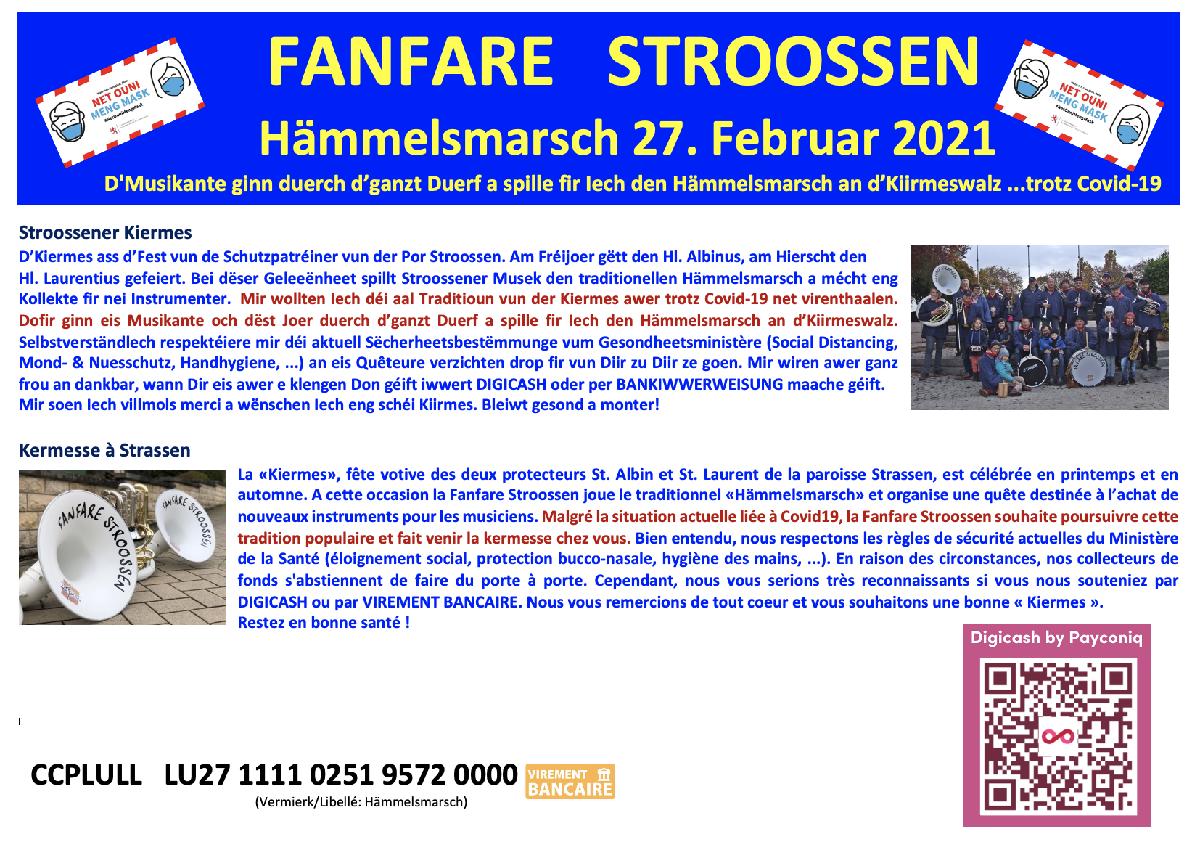 Hämmelsmarsch zu Stroossen 27. Februar 2021