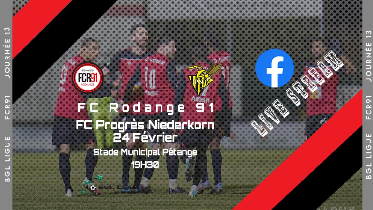 FC Rodange 91 - FC progrès Niederkorn