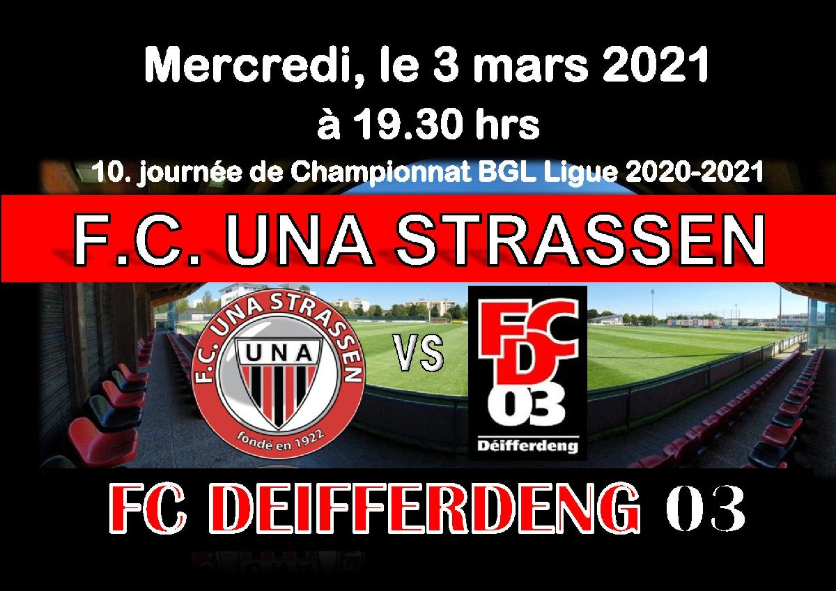 Match vs FCD 03 a huis clos.....