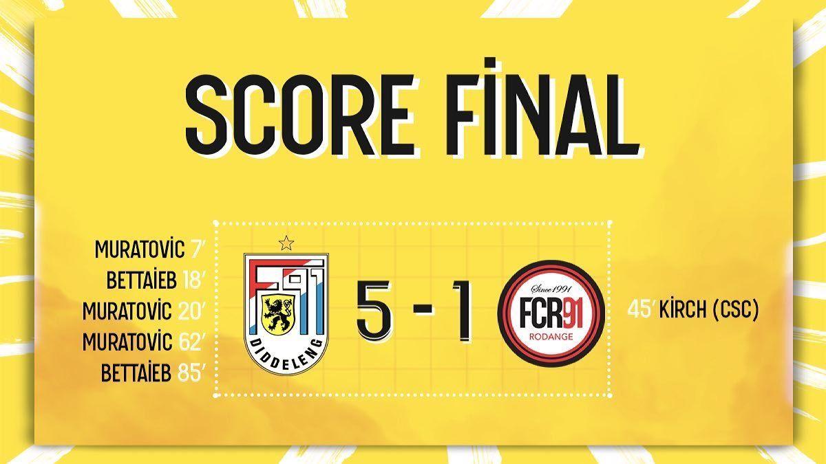 F91 Diddeleng - FC Rodange 91