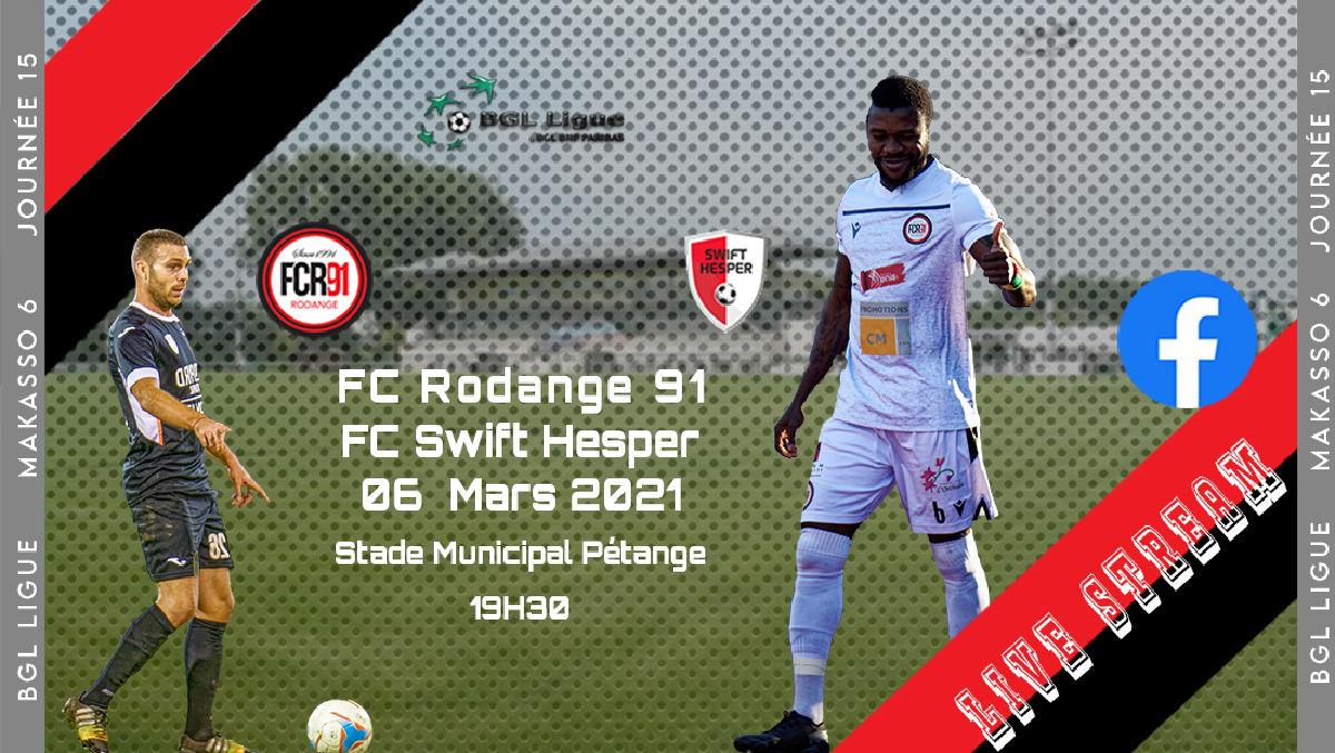 FC Rodange 91 - FC Swift Hesper