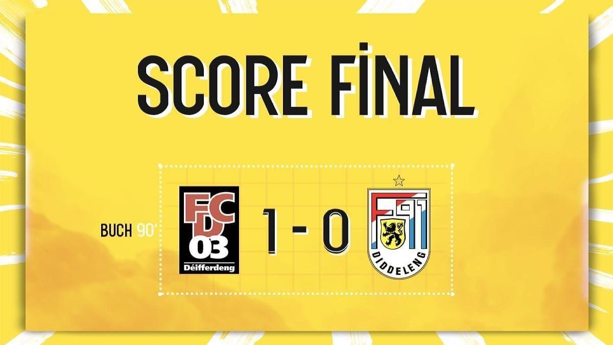 FC Déifferdeng 03 - F91 Diddeleng 1-0