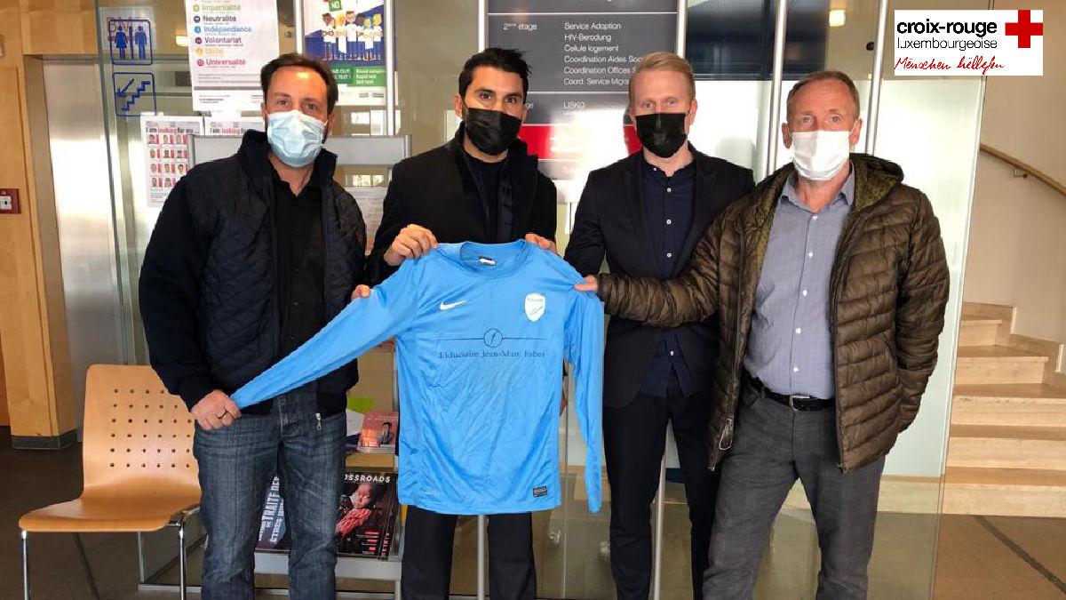 Le Racing fait une donation à La Croix Rouge luxembourgeoise