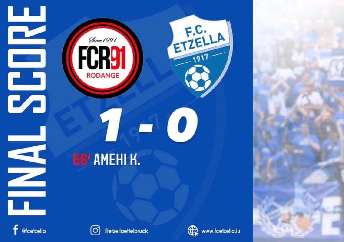 FC RODANGE 91 1-0 FC ETZELLA
