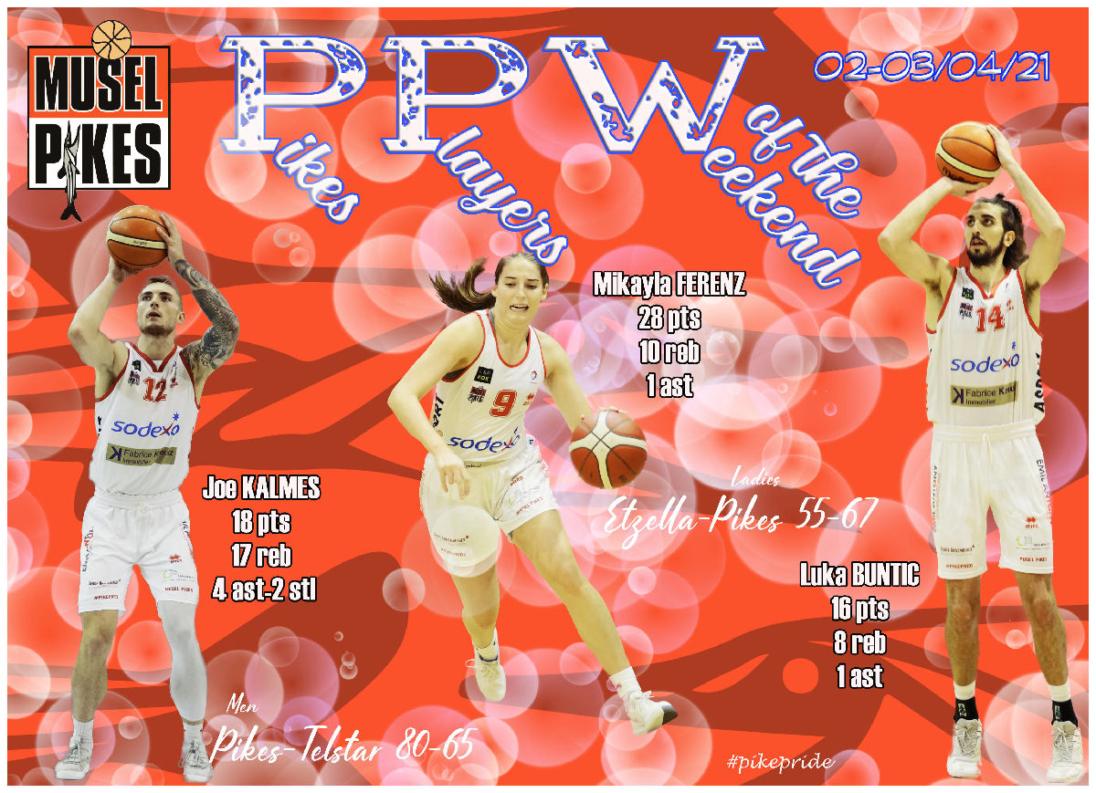PPW Pikes players of the weekend 02-03/04/2021