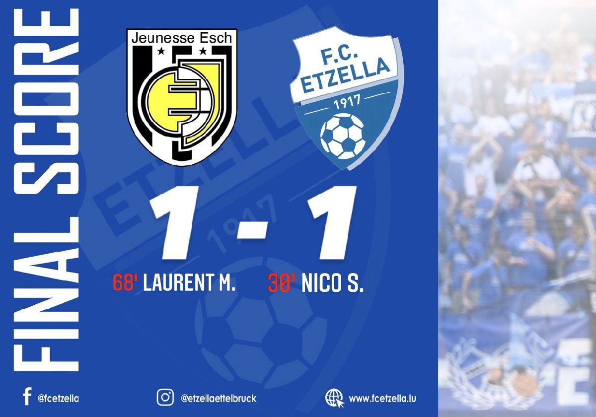AS JEUNESSE ESCH 1-1 FC ETZELLA