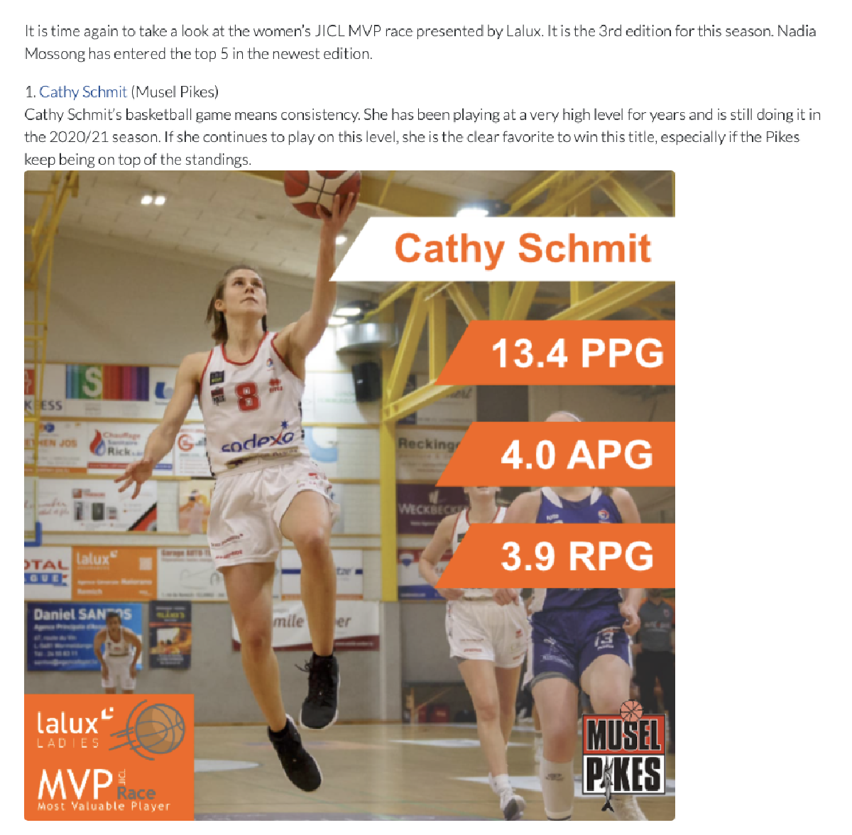 Women's JICL MVP race presented by LALUX (3rd edition)