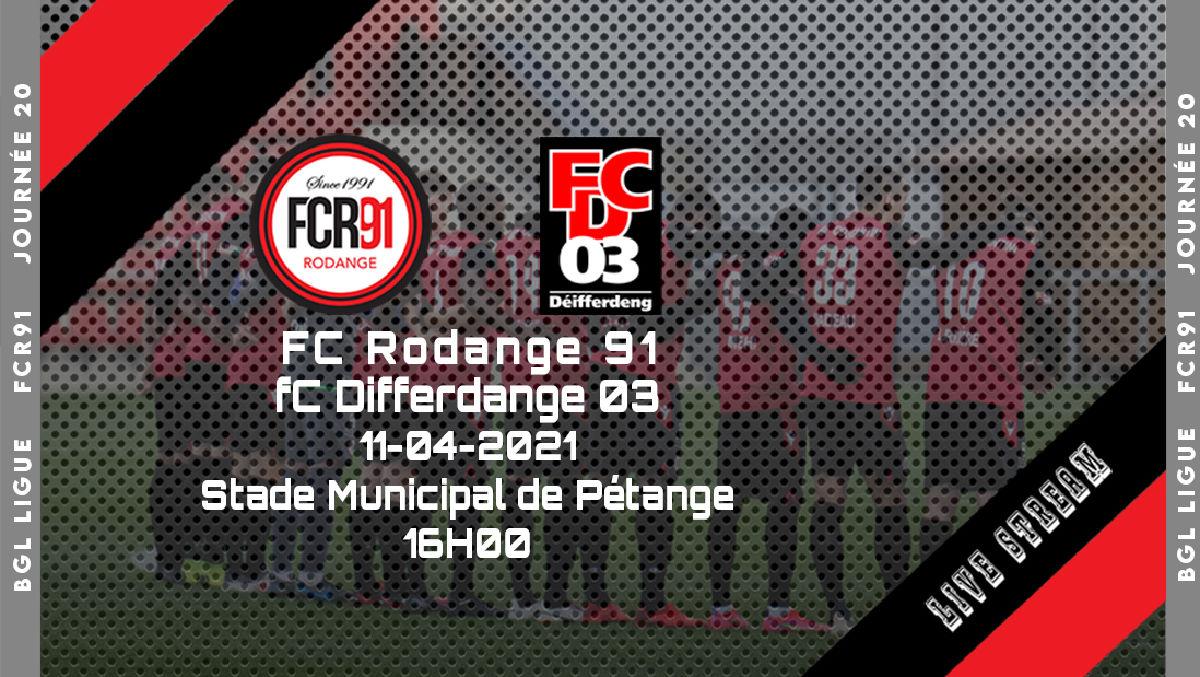 FC Rodange 91 - FC Differdange 03