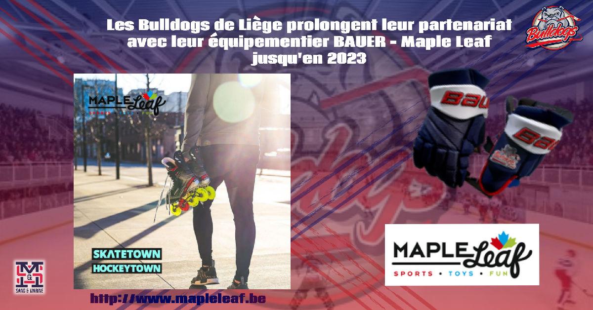 Prolongation du partenariat entre Bauer Hockey Bénélux / Maple Leaf Sport et les Bulldogs de Liège