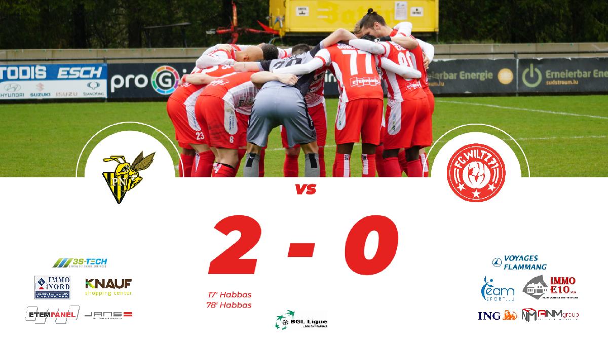 Progrès vs FC WILTZ 71: 2-0