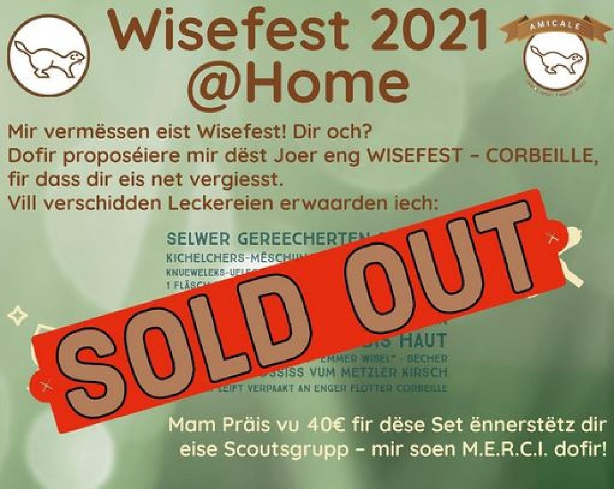 Mamer Wiselen asbl: Corbeille Wisefest  => SOLD OUT <=