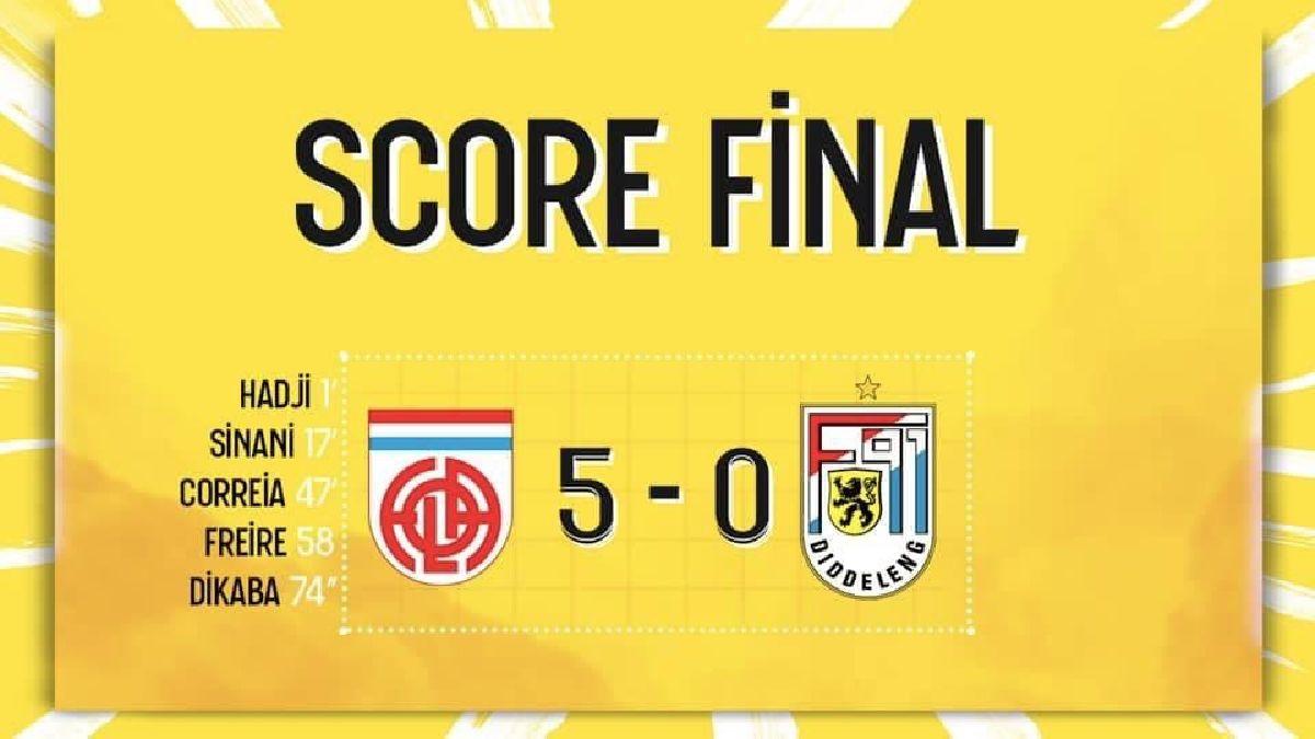 Fola Esch - F91 Diddeleng 5-0