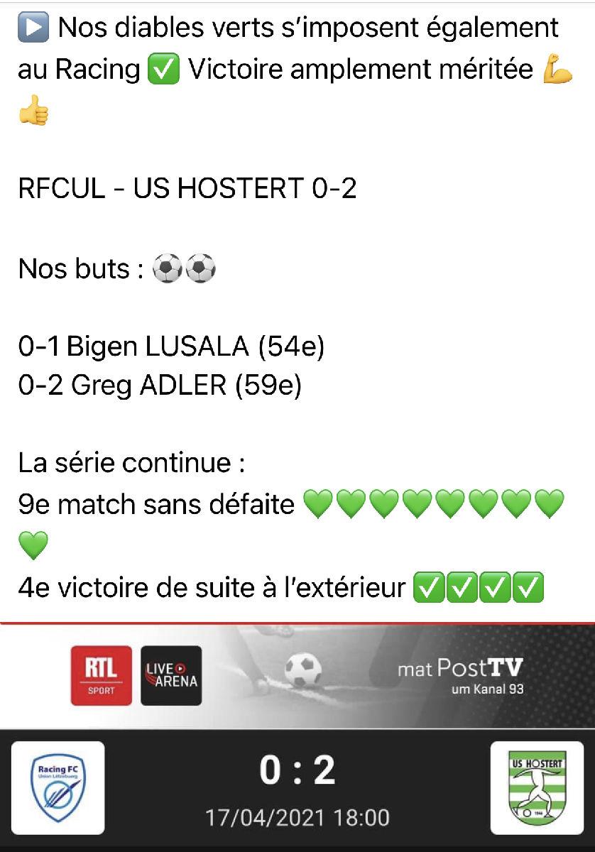 """USH gewënnt och beim RFCUL (2-0) a baut seng """"onheemlech"""" Serie weider aus !"""