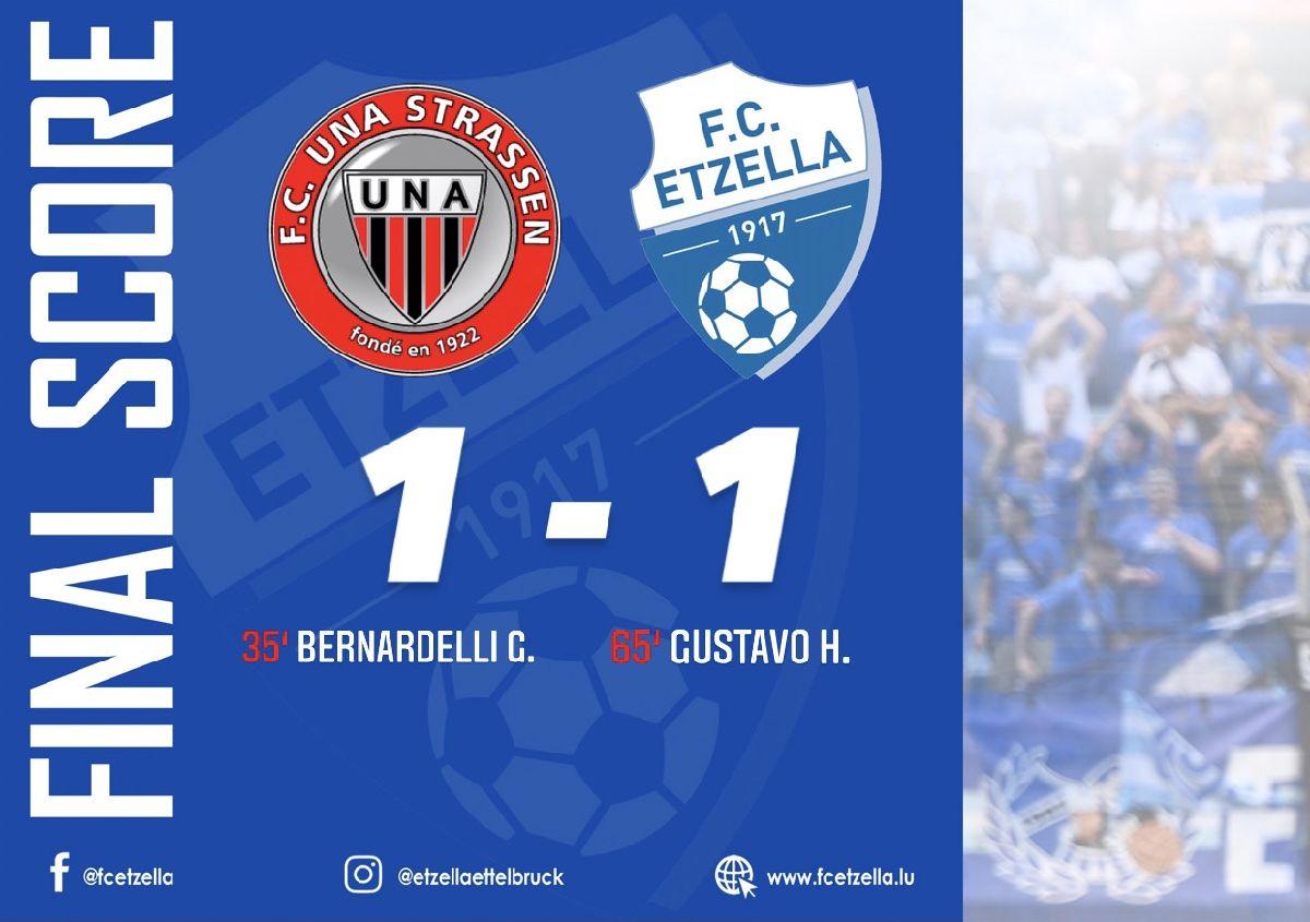 UNA STRASSEN 1-1 FC ETZELLA