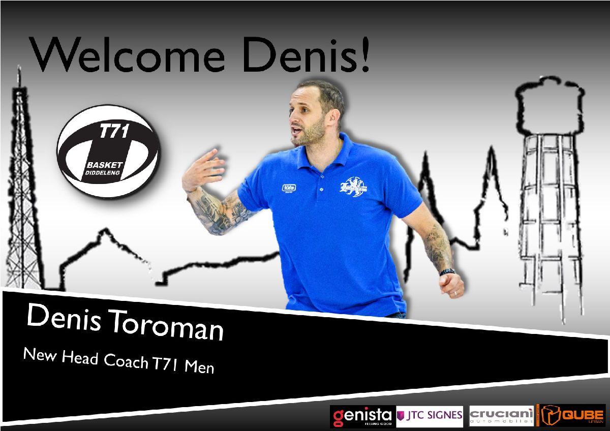 Denis Toroman new Men's Head Coach