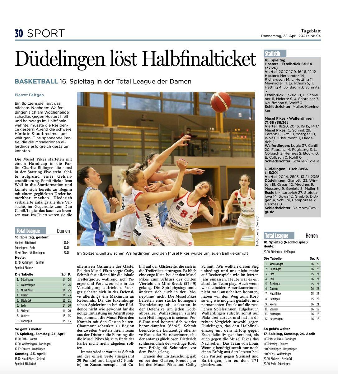 Tageblatt 22/04/2021