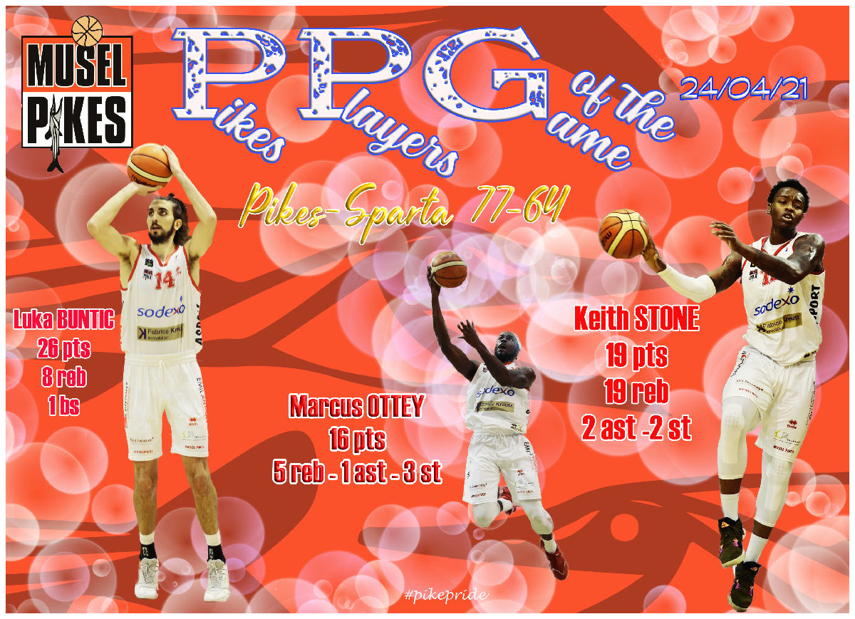 PPG Pikes players of the game Pikes-Sparta