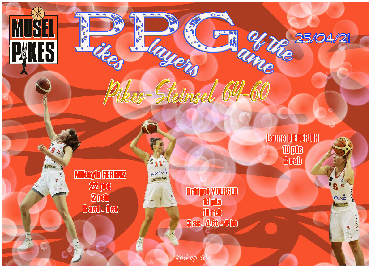 PPG ladies game Pikes-Steinsel 64-60