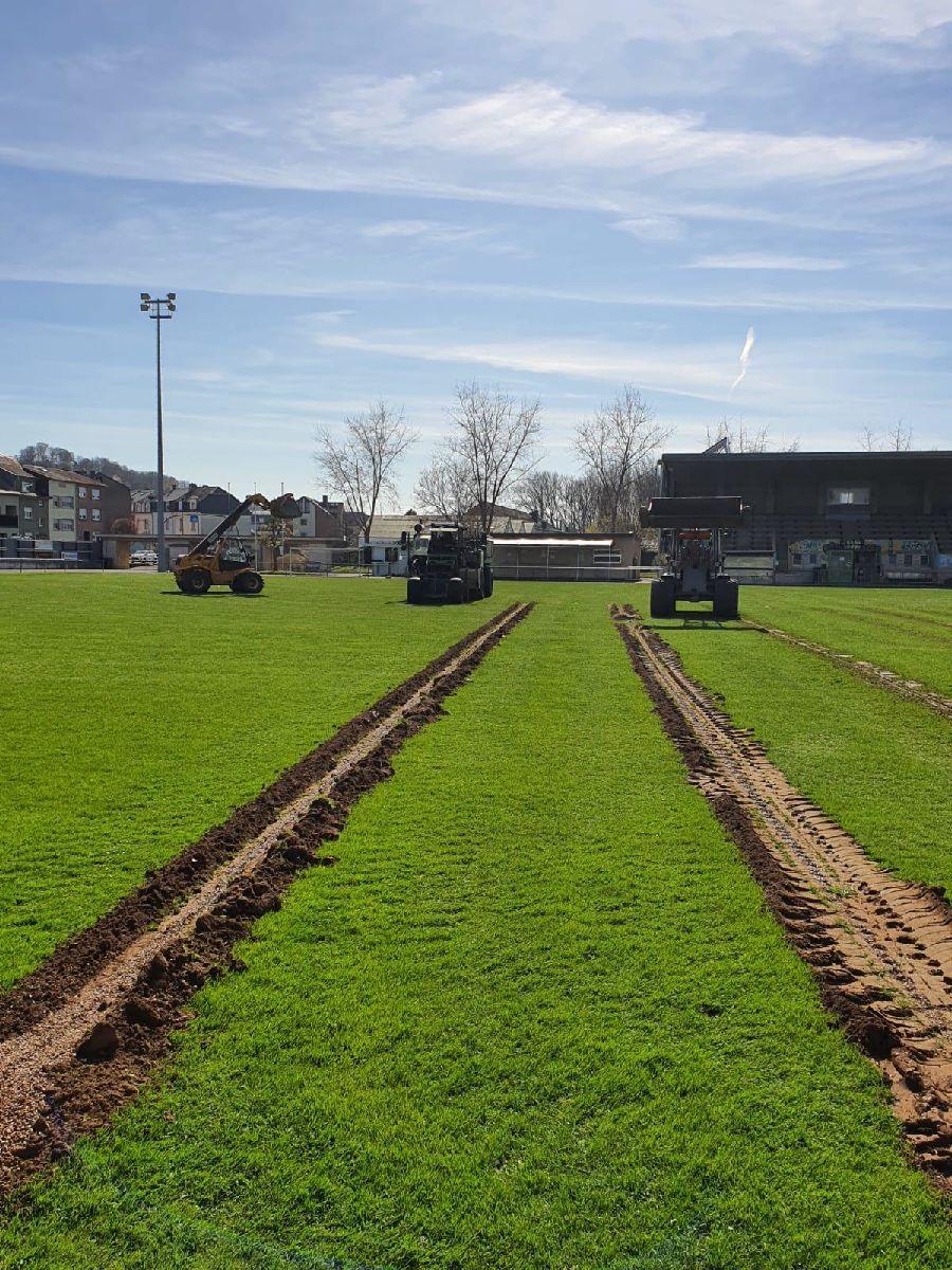 travaux de rénovation au terrain principal