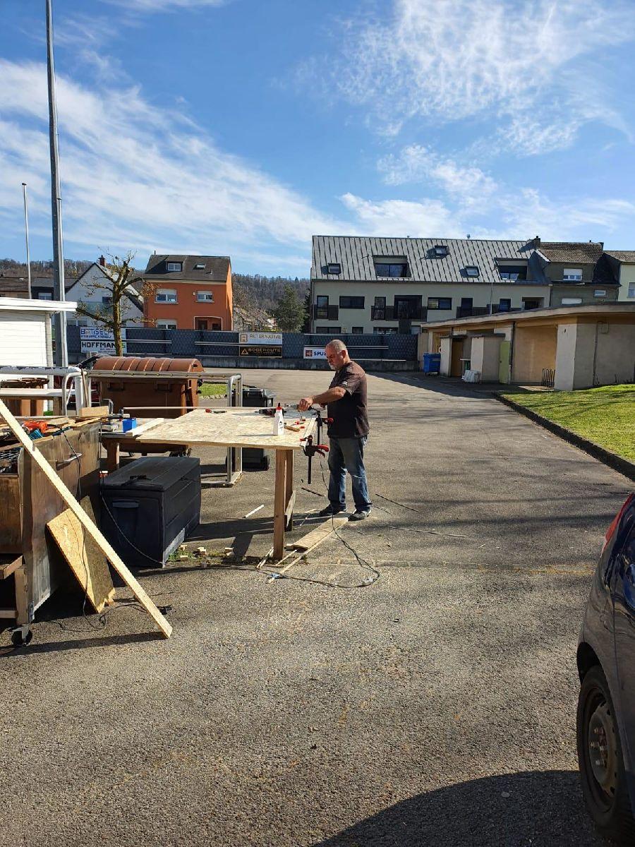 travaux d'extension au terrain principal (plus de photos sous Multimedia - Galerie)