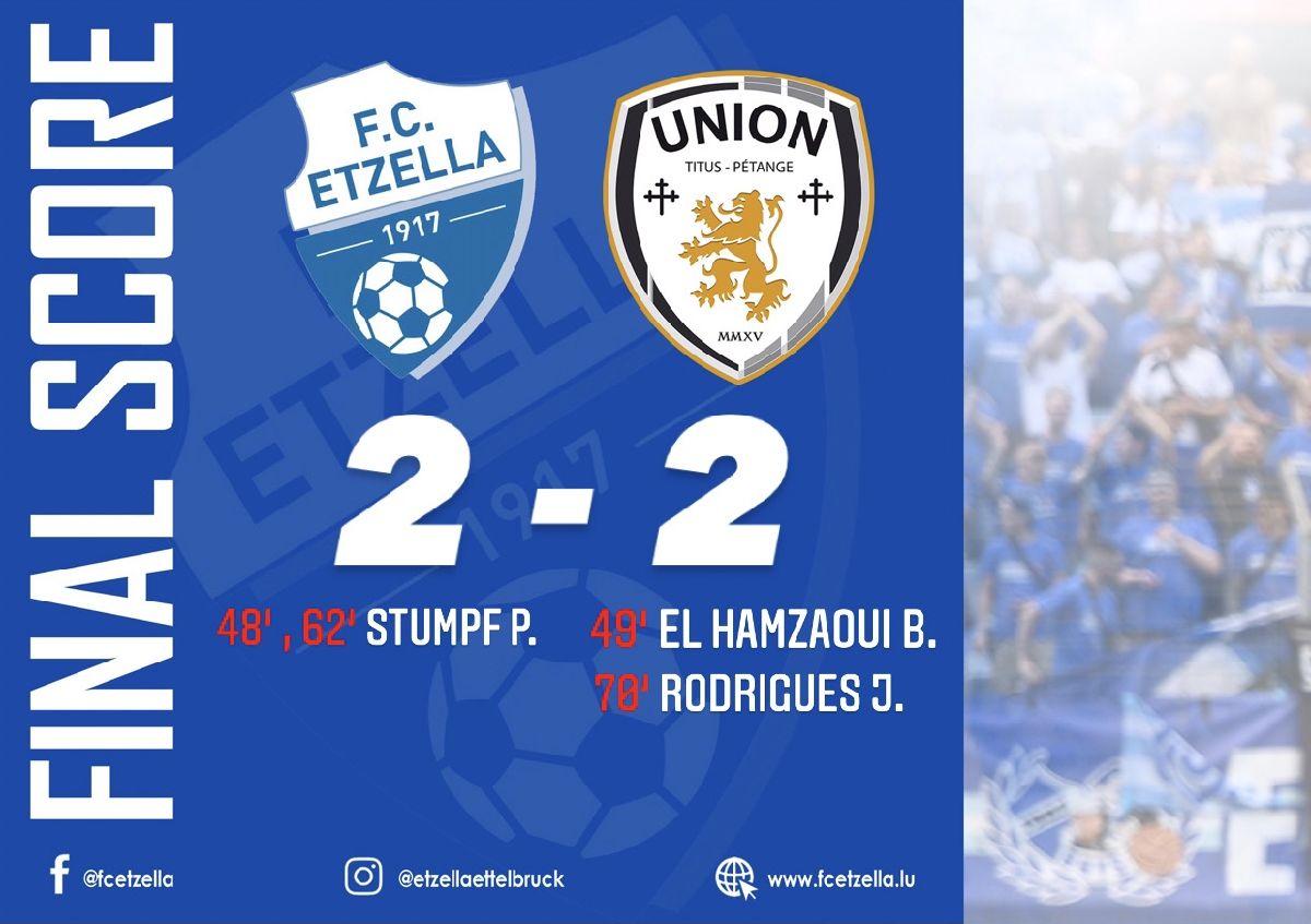 FC ETZELLA 2-2 UNION TITUS PÉTANGE