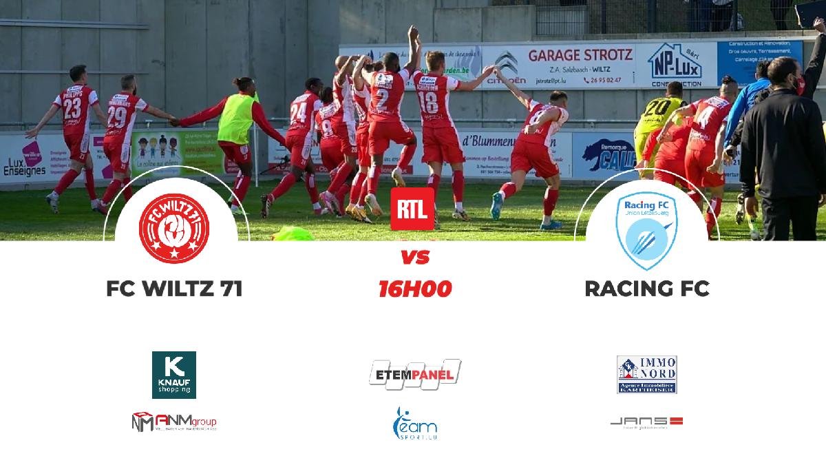 FC WILTZ 71 VS RACING : STADIONZEITUNG