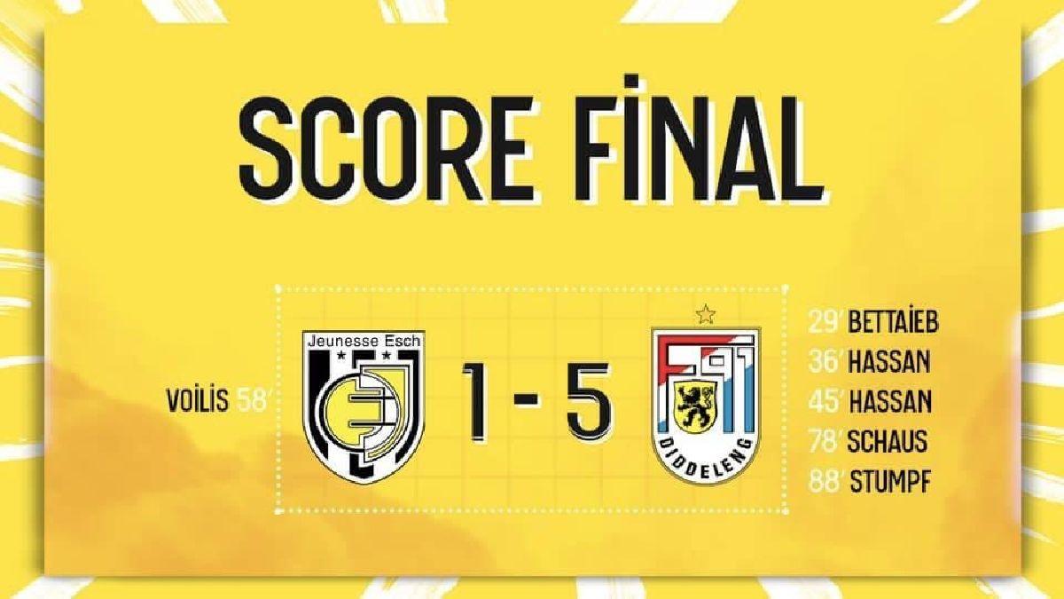 Jeunesse Esch - F91 Diddeleng 1-5