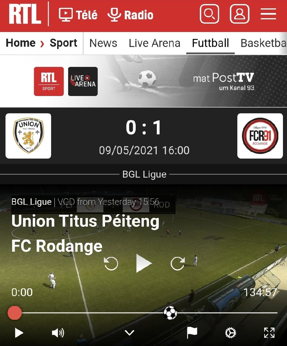 Union Titus Pétange - FC Rodange 91, les meilleures actions