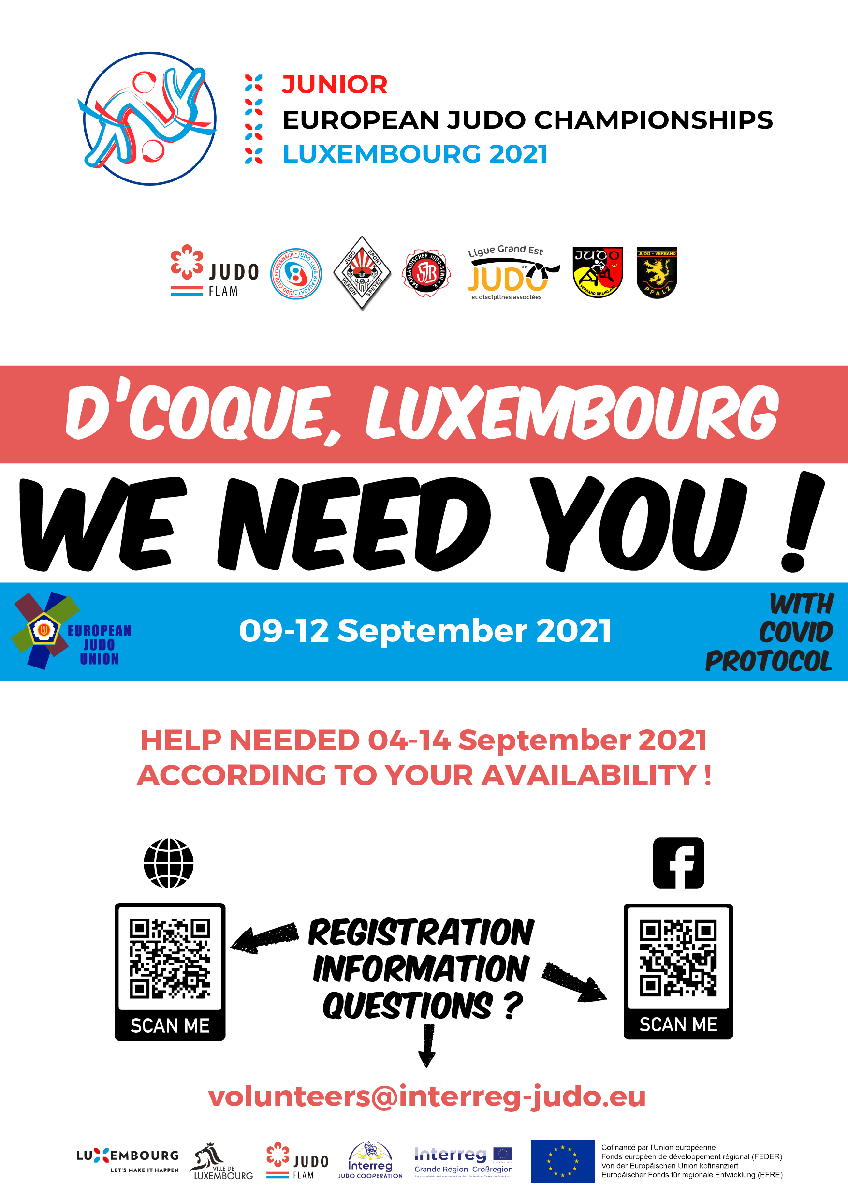 WE NEED YOU ! APPLY TO BE A VOLUNTEER AT U21 EUROPEANS