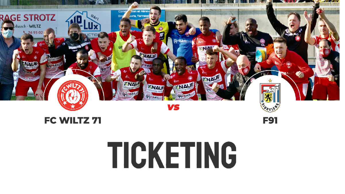 TICKETING INFO VS F91 - SOLD OUT