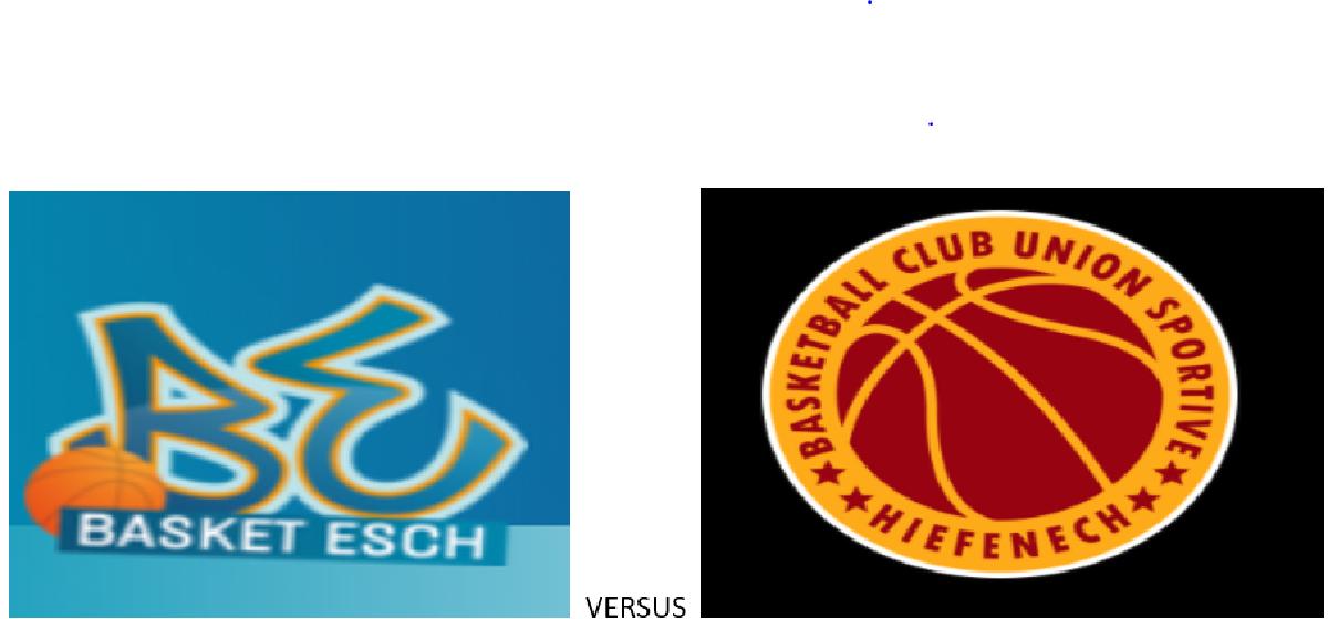 Match Basket Esch vs Heffingen AVEC SPECTATEURS
