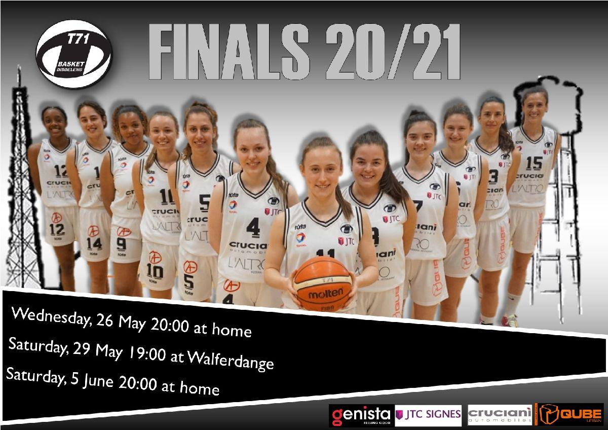 Ladies Finals schedule confirmed