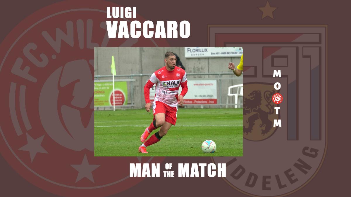 MAN OF THE MATCH VS F91: LUIGI VACCARO