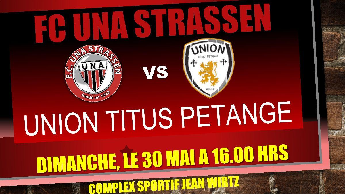 Réservation sur tickets@fcuna-strassen.lu - Avis important: pas de confirmation, mais un mail vous sera envoyé en cas d'indisponibilité.