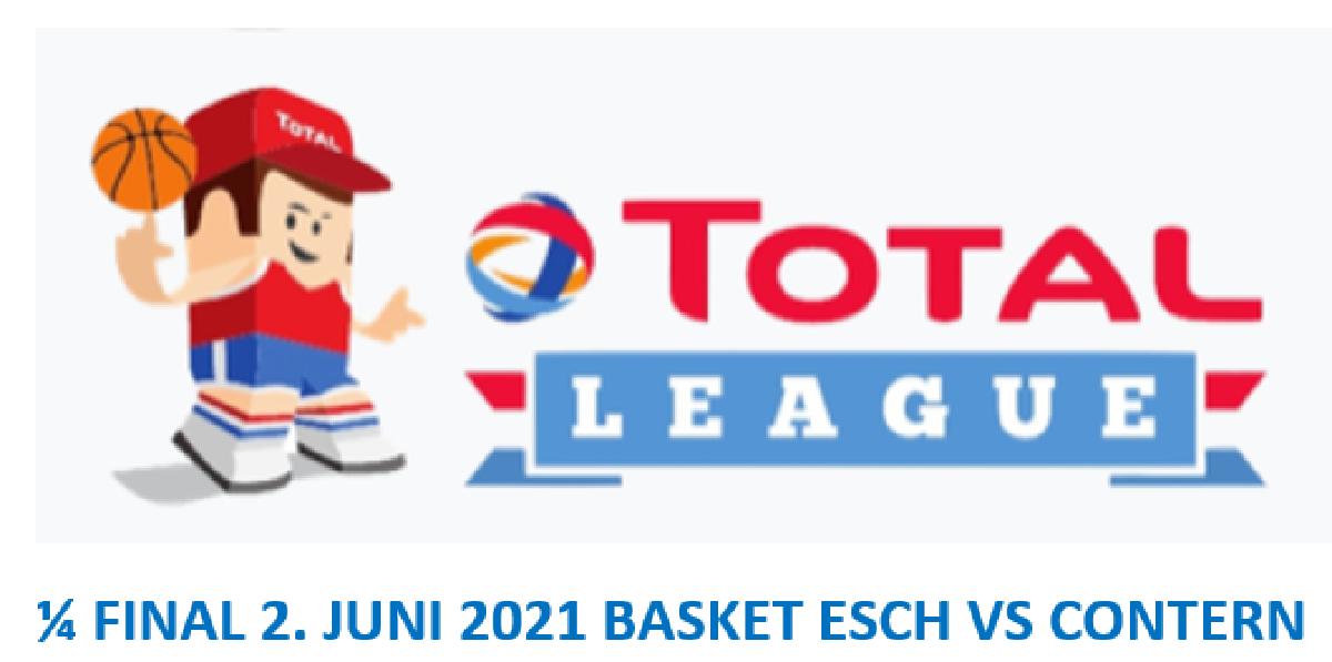 1/4 FINALE Basket Esch vs Contern: mercredi 2 juin à 20h Hall Omnisport Lallange