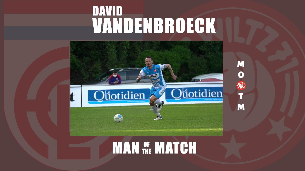 MAN OF THE MATCH VS FOLA : DAVID VANDENBROECK!
