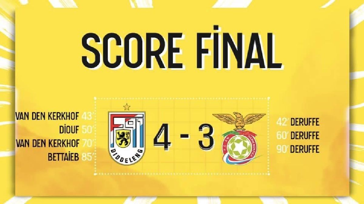 F91 Diddeleng - RM Hamm Benfica 4-3