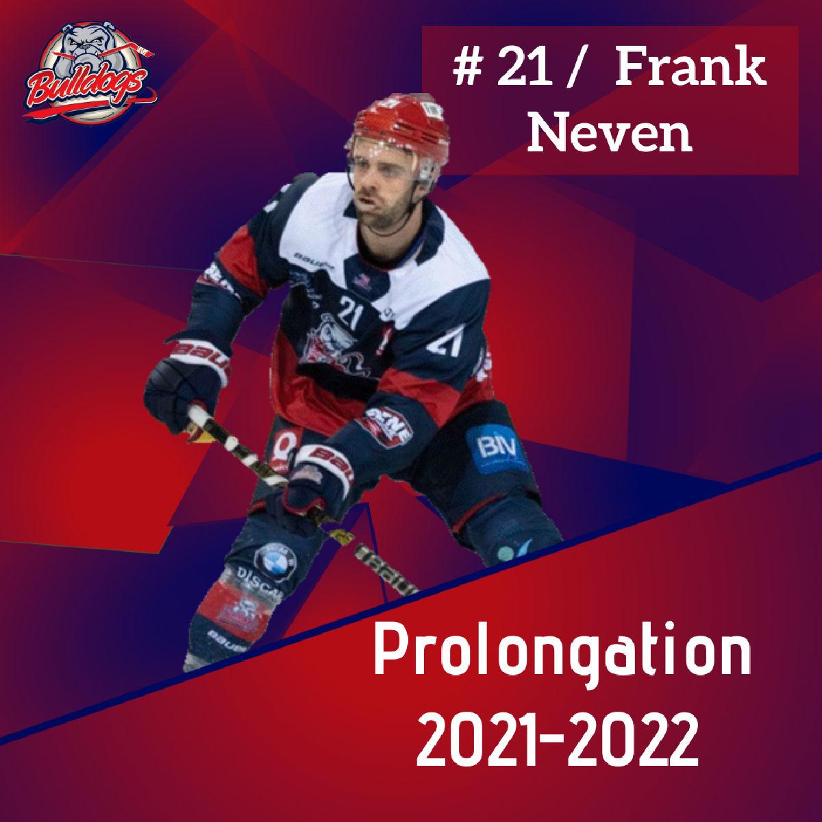 9ème saison pour Frank Neven chez les Bulldogs de Liège