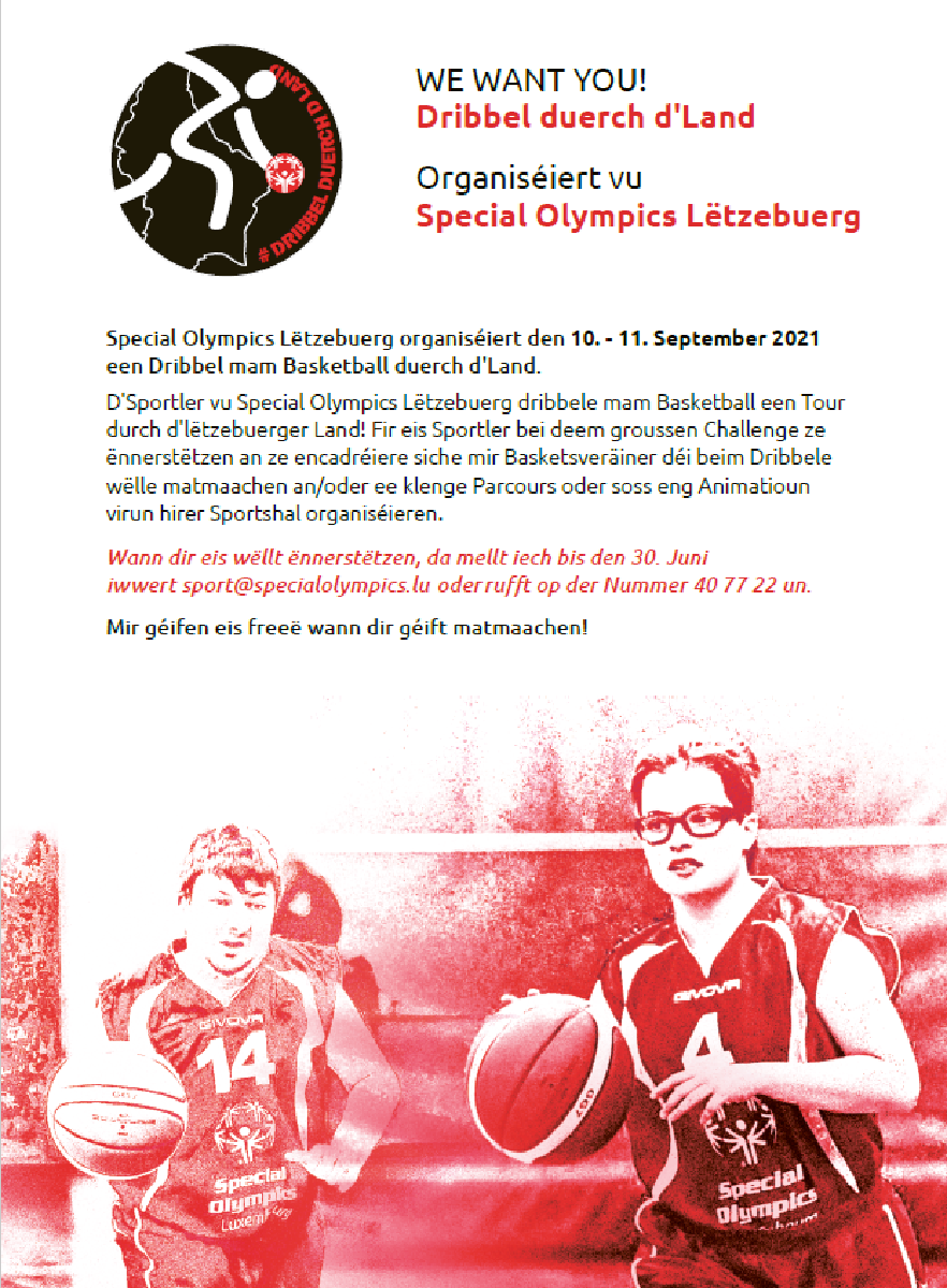WE WANT YOU : DRIBBEL DUERCH D'LAND