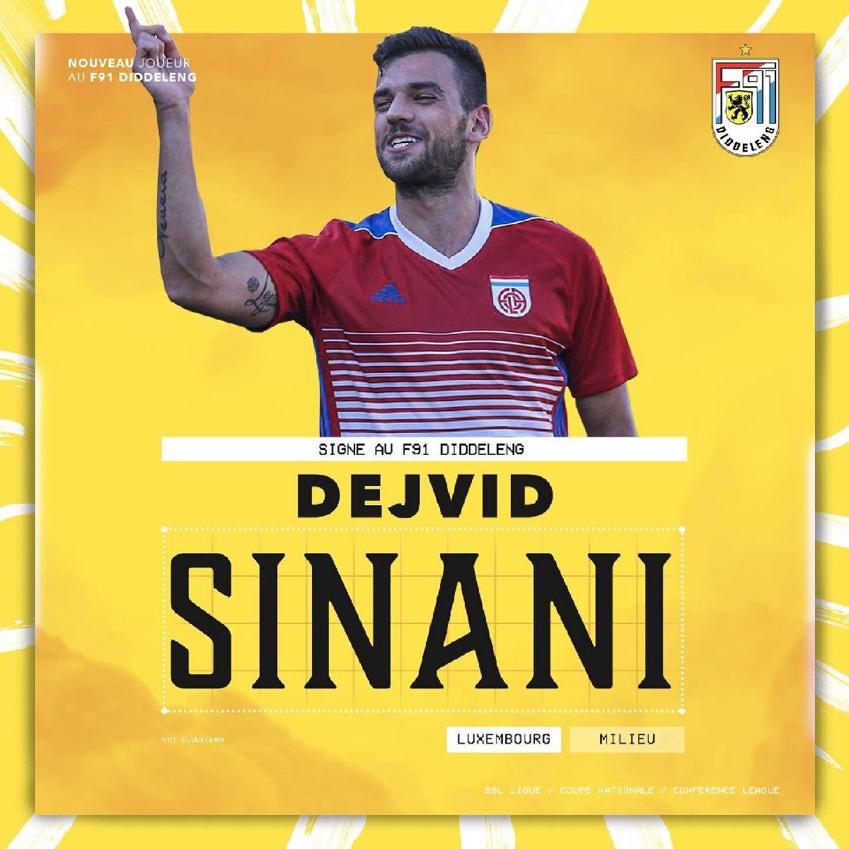 Dejvid Sinani rejoint le F91