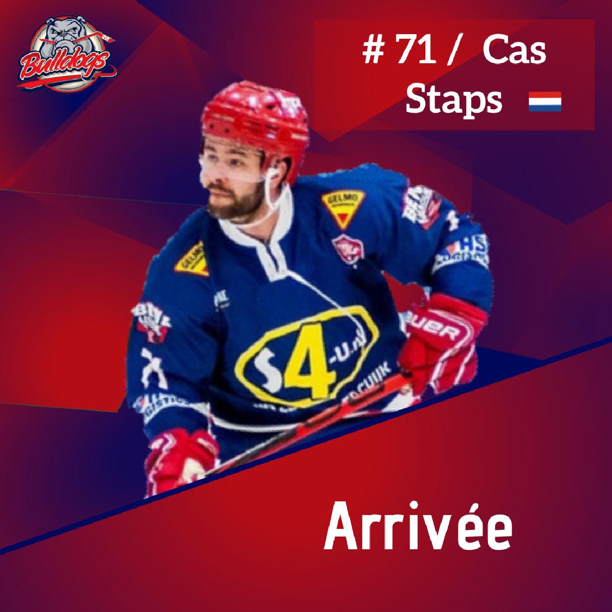 Arrivée de Cas Staps chez les Bulldogs de Liège