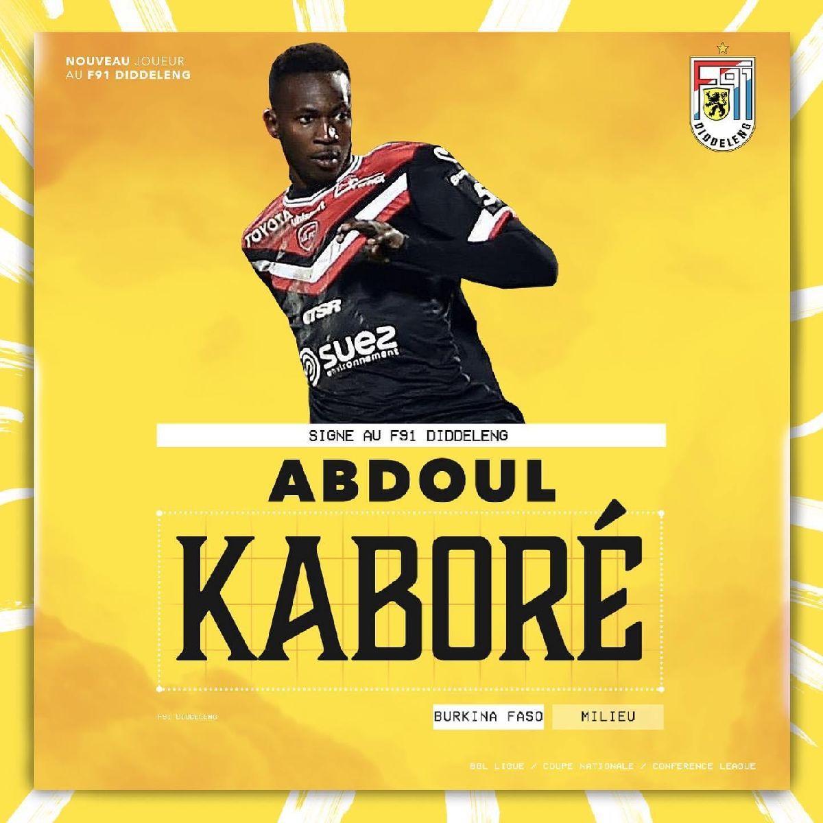 Abdoul Kaboré rejoint le F91