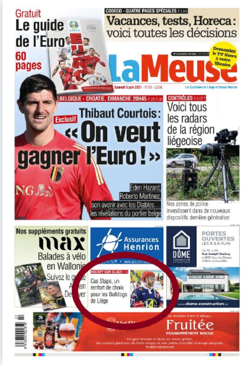 La Meuse et la Meuse web de ce samedi 5 juin (toutes les photos en annexe)