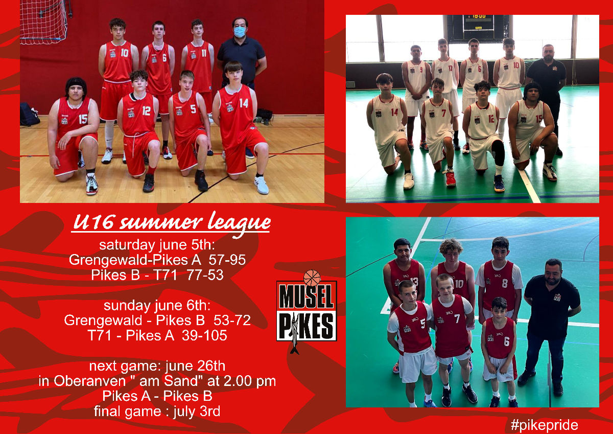 U16 boys summer league